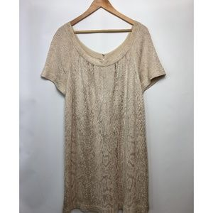 Q St. John Collection Round Neck Tunic Dress